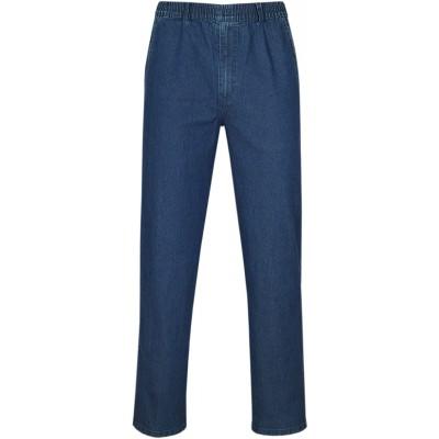 T-MODE Herren Jeans Stretch Schlupfhose Schlupfjeans ohne Cargo-Taschen Bekleidung