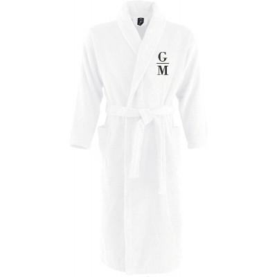 Monogrammliebe Bademantel aus 100% Baumwolle • Zwei aufgesetzte Seitentaschen • Passender Gürtel Bekleidung