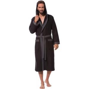 Morgenstern Bademantel Herren mit Kapuze leicht Bekleidung