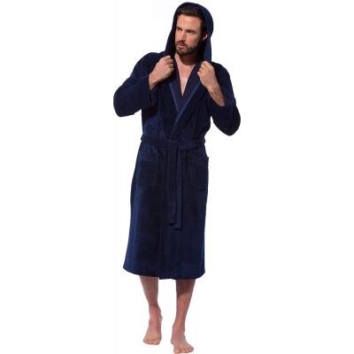 Morgenstern Bademantel Marc mit Kapuze für Herren leicht Bekleidung