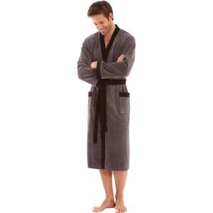 Morgenstern Kimono Bademantel für Herren ohne Kapuze Bekleidung