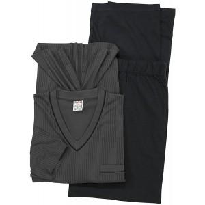 ADAMO Übergrößen Langarm Schlafanzug in grau der Firma 2XL bis 10XL Bekleidung