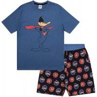 Looney Tunes - Herren Schlafanzug - kurz - mit Space Jam Taz Daffy Duck oder Elmer Fudd - Offizielles Merchandise Bekleidung