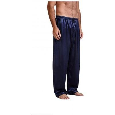 Eghunooye Herren Seide Schlafanzughose Pyjamahose Nachtwäsche S M L XL Bekleidung
