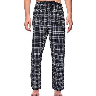 Herren Pyjamahose Baumwolle Schlafanzug Karierte Hose Nachtwäsche Sleep Hose Pants Tarnfarbe im Lässigen Stil Hose Lang Baumwoll-Gummiband Bekleidung