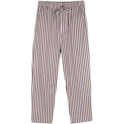 Icegrey Herren Lange Gestreifte Pyjamahose Schlafanzughose Baumwolle Nachtwäsche M Bekleidung