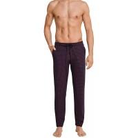 Schiesser Herren Lange Schlafanzughose Loungehose Lang dunkelrot 64 Bekleidung