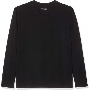Schiesser Herren Mix & Relax Langarmshirt V-Ausschnitt Schlafanzugoberteil Bekleidung