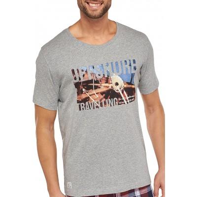 Schiesser Herren Shirt Kurzarm 152185 grau-mel. 52 Bekleidung