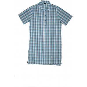 Seidensticker Herren Nachthemd 1 2 Einteiliger Schlafanzug Blau Blau 800 Small 048 Bekleidung