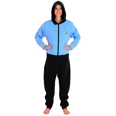 Star Trek Blue Spock Adult Pajama Onesie Small Medium Bekleidung