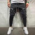 Herren Reißverschluss Pure Color Overalls Casual Pocket Sport Work Casual Hosen Bekleidung