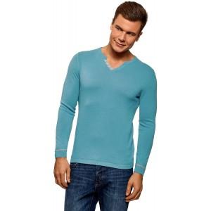 oodji Ultra Herren Pullover Basic mit Zierverschluss Bekleidung
