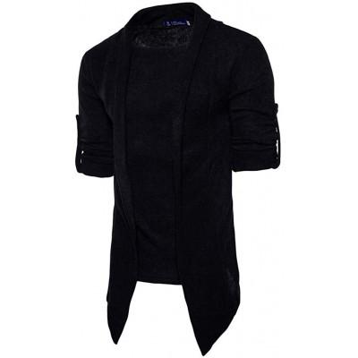 Herren Strickjacke Open Jacke Unifarben Cardigan Knit Mantel Frühling Bequeme Größen Herbst Sweatshirt Outerwear Strickmantel Kleidung Bekleidung