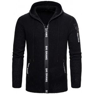 Herren Strickjacke Reißverschluss Cardigan Slim Sweater Jacke Winter Hoodie Bekleidung