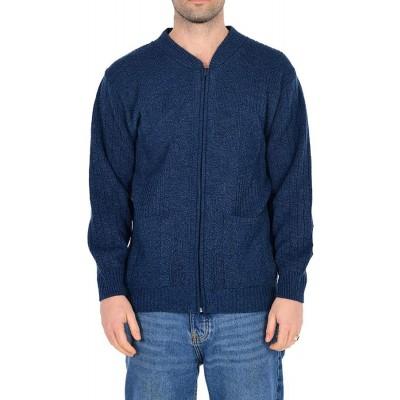 Love Celeb Look Herren Strickjacke mit 2 Taschen und Reißverschluss für Freizeitkleidung im Herbst und Winter Bekleidung