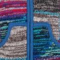 SHAKALOHA - Patchwork Strickjacke Wolljacke in gemischte Farben mit Abnehmbarer Kapuze - M Patch NH MixMulti für Herren - im fairen Wettbewerb in Nepal hergestellte fleecegefütterte Wolljacke Bekleidung