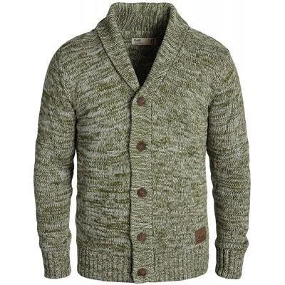 !Solid Philip Herren Strickjacke Cardigan Grobstrick Pullover mit Schalkragen Bekleidung