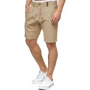 Indicode Herren Bowmanville Shorts aus 55% Leinen & 45% Baumwolle | Kurze Regular Fit Hose Leinen-Shorts Sommerhose Herrenshorts Short Men Pants Freizeithose kurz für Männer Bekleidung