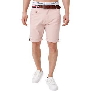 Indicode Herren Creel Chino Shorts mit 5 Taschen inkl. Gürtel aus 98% Baumwolle | Kurze Hose Regular Fit Bermuda Stretch Herrenshorts Short Men Pants Sommerhose kurz für Männer Bekleidung
