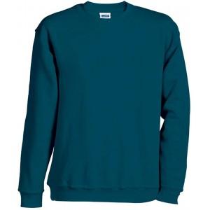 James & Nicholson Herren Round-Sweat-Heavy Sweatshirt Bekleidung