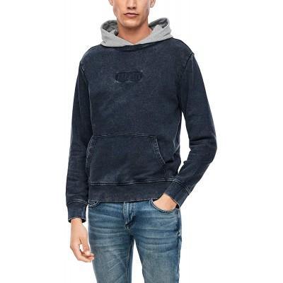 Q S designed by - s.Oliver Herren Sweater mit Kontrast-Kapuze Q S designed by Bekleidung