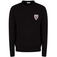 Versace Collection Sweatshirt aus Baumwolle Schwarz - Schwarz - Large Bekleidung