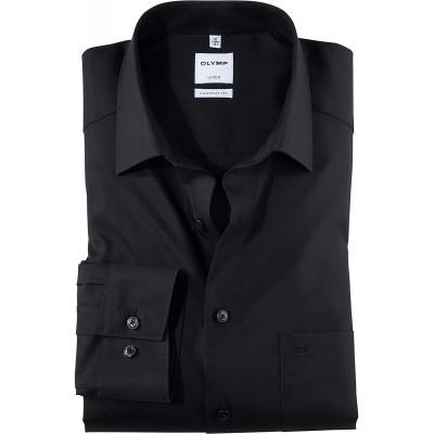 OLYMP Herren Oberhemd Langarm Luxor Uni Comfort fit New Kent Bekleidung