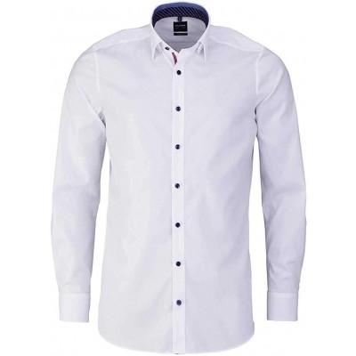 OLYMP Level Five Body fit Hemd extra Langer Arm mit Besatz weiß Bekleidung