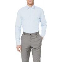 Seidensticker Herren Business Hemd - Bügelfreies Hemd mit geradem Schnitt - Regular Fit - Langarm - Kent-Kragen - gestreift - Brusttasche - 100% Baumwolle Bekleidung