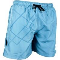 GUGGEN Mountain Badehose für Herren Schnelltrocknende Badeshorts B5 mit Kordelzug Beachshorts Boardshorts Schwimmhose Männer mit blaues Muster Bekleidung