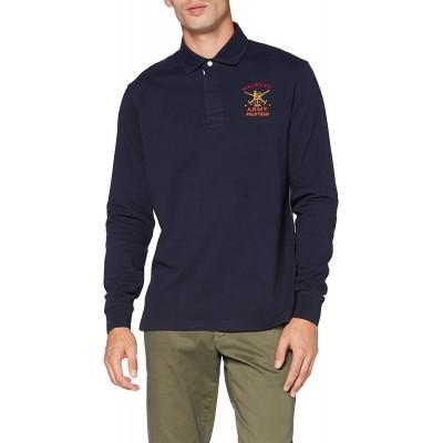 Hackett London Herren Langarmshirt Army Multi Rby Bekleidung