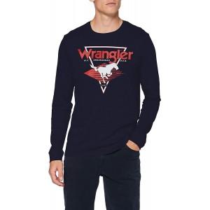 Wrangler Herren Ls Modern Americana T-Shirt Bekleidung