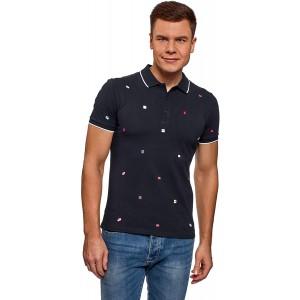 oodji Ultra Herren Baumwoll-Poloshirt mit Kontrastbesatz Bekleidung