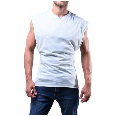 AmyGline T-Shirt Herren Ärmelloses Tank Top Fitness Sport Leicht WesteT-Shirt Männer Tshirt Top Hemd Bluse Oberteile Bekleidung
