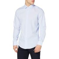 Seidensticker Herren Business Hemd - Bügelfreies schmales Hemd - Slim Fit - Langarm - Kent-Kragen - gestreift - 100% Baumwolle Bekleidung