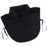 Sharplace Abnehmbarer Kragen Halbes Hemd Bluseneinsatz Baumwolleinsatz - Schwarz M Bekleidung