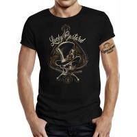 Biker T-Shirt Rockabilly Racer Hot Rod Design Lucky Bastard Bekleidung