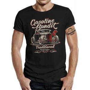 Gasoline Bandit Rockabilly Hot-Rod RacerT-Shirt original Design Traditional Bekleidung