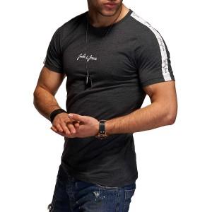 JACK & JONES Herren T-Shirt Kurzarmshirt Top Print Shirt Casual Basic O-Neck Bekleidung