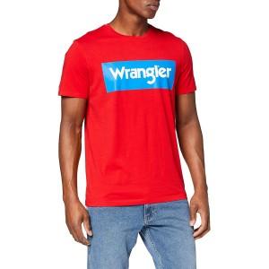 Wrangler Herren Ss Logo Tee T-Shirt Bekleidung