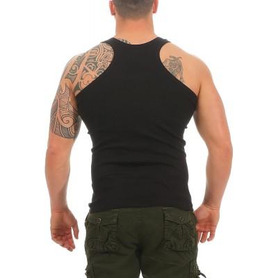 2 4 6 oder 8 Herren Tanktop Muscle Shirt Boxershirt Classic in FEINRIPP Tank Top Muskelshirt für Sport Fitness & Bodybuilding Trägershirt aus 100% gekämmter Baumwolle Bekleidung