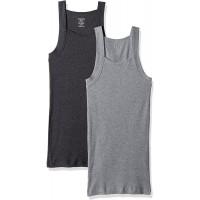 2xist Herren Essential Cotton Square Cut Tank 2-Pack Unterhemd Bekleidung