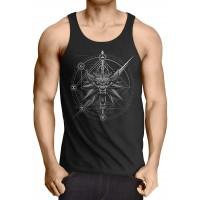 A.N.T. Another Nerd T-Shirt A.N.T. Hexer Wappen Herren Tank Top Geralt Mittelalter Wolf Bekleidung