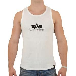 Alpha Industries Männer Logo Tank Top white black - M Bekleidung