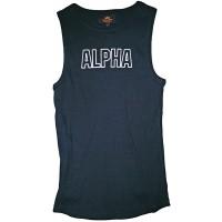 Alpha Industries Track Tank Heather Grey Grau Bekleidung
