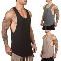 Herren Gym Muskel Weste Solid Color Low Cut Bodybuilding Tank Top Technische Stringer Lifting Fitness Übung Laufen Outfit Tops M-XXL Bekleidung