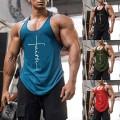 Hong Yi Fei-Shop Herren Gym Tank Top Fitnessstudio Tank Top für Männer Bodybuilding Tops Sommer ärmellose Tanks Fitness Weste Hemden Plus Größe Muskelshirt Color J Size X-Large Bekleidung