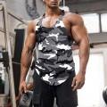 Hong Yi Fei-Shop Herren Gym Tank Top Fitnessstudio Tank Top für Männer Bodybuilding Tops Sommer ärmellose Tanks Fitness Weste Hemden Plus Größe Muskelshirt Color K Size XXXXX-Large Bekleidung