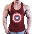 LLD Männer Fitness Männer Singulett Fitnessstudio Weste Baumwolle Bodybuilding Tank Top Ärmellose Hemden Tank Tops Bildfarbe S Bekleidung